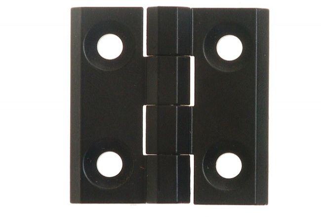 Zawias 40x40 grubość 5mm kolor czarny sworzeń stal nierdzewna