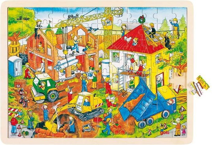Puzzle duże na budowie