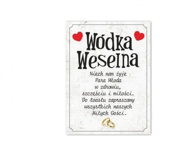Etykiety na wódkę weselną butelki 25 sztuk E502