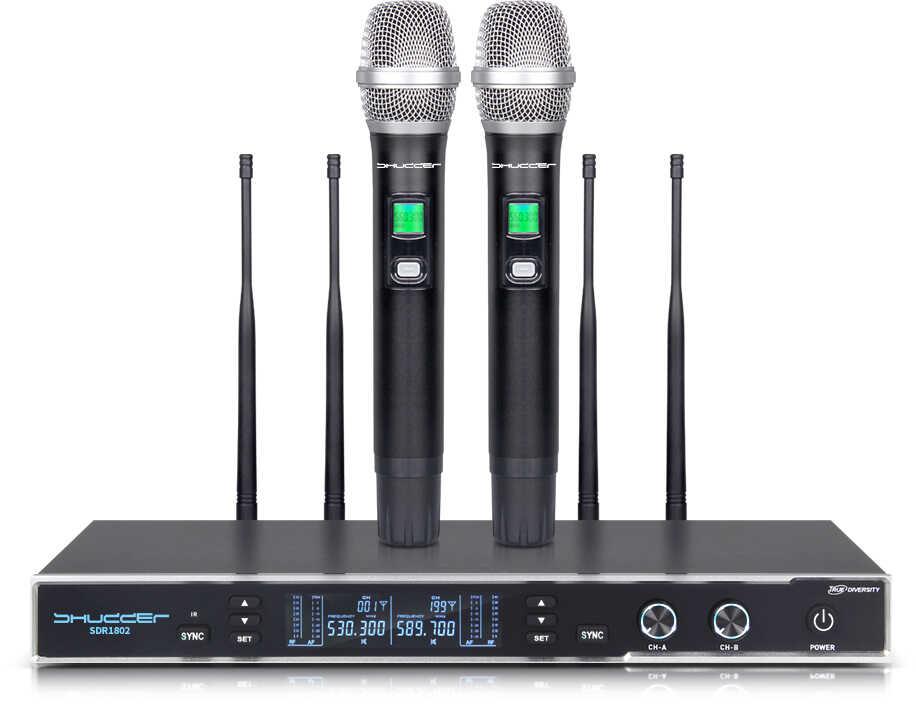 Mikrofony Shudder 2 mikrofony ręczne SDR1802