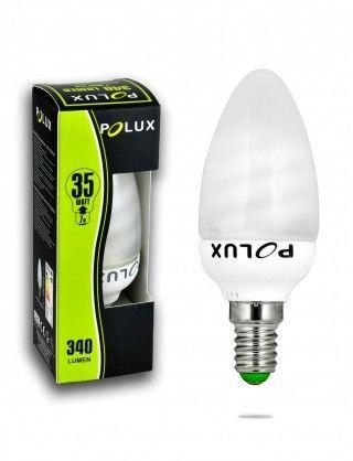 Żarówka LED 7W 35W gwint E14 340lm ciepła-żółta barwa światła POLUX/SANICO