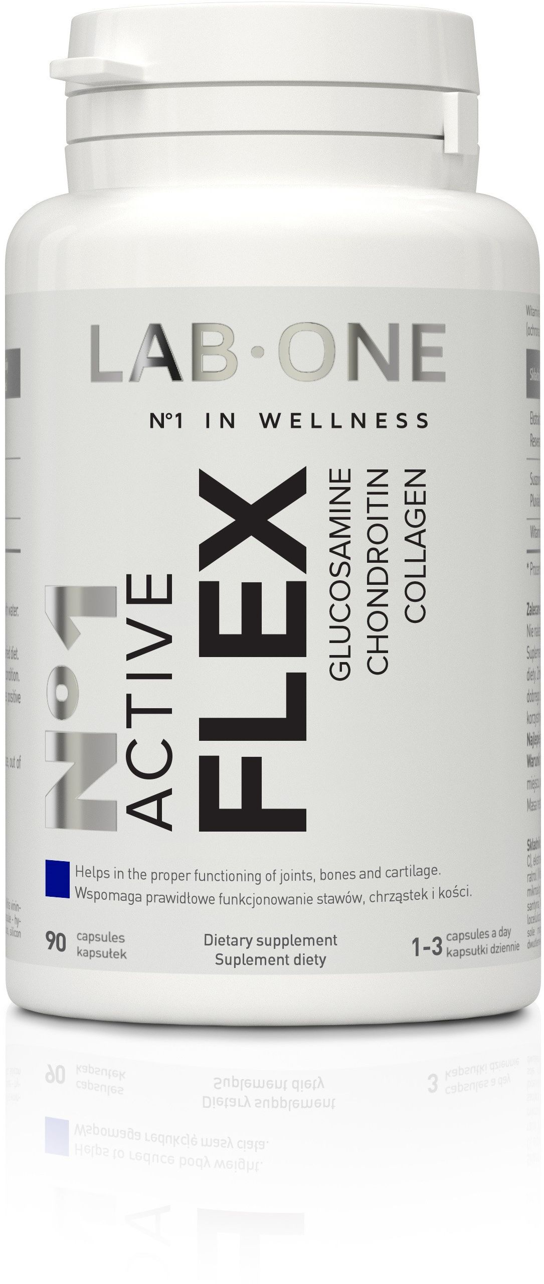LAB ONE N1 Active Flex (Glukozamina Kolagen Chondroityna) 90 kapsułek