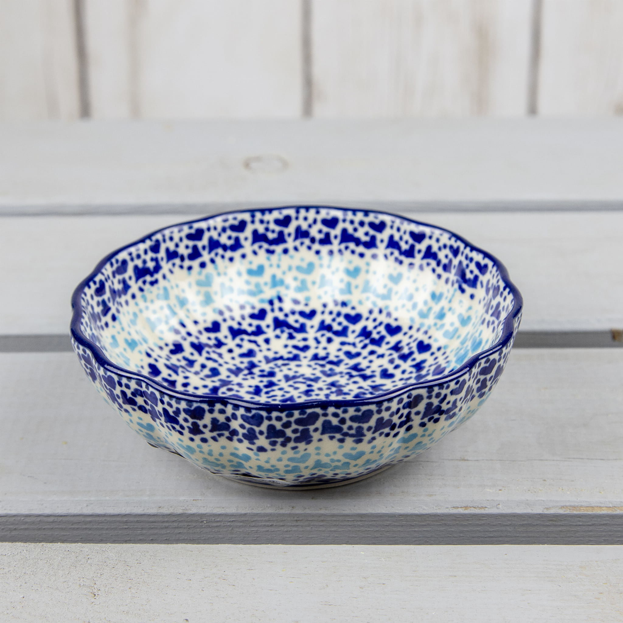 Miska fala ceramika Bolesławiec