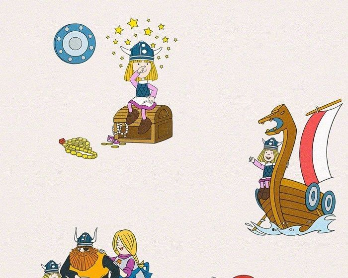 Tapeta piraci wikingowie 94189-1 kids best friends