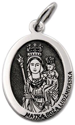 Medalik srebrny z wizerunkiem matki bożej ludźmierskiej med-mbl-01