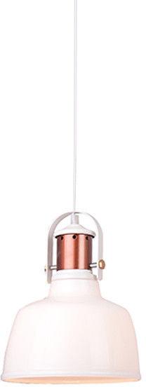 Lampa wisząca Darling Glass 1 AZ2143 AZzardo nowoczesna oprawa w kolorze białym