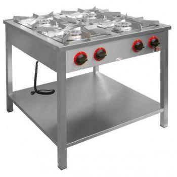 Kuchnia gastronomiczna gazowa 4-palnikowa z półką dolną