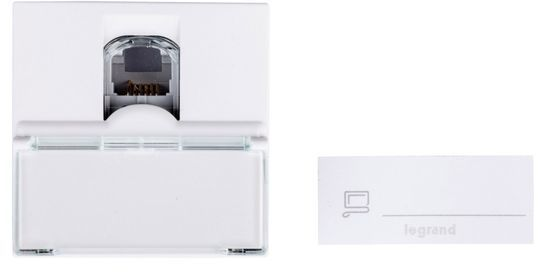 MOSAIC Gniazdo telefoniczne RJ12 białe 078732