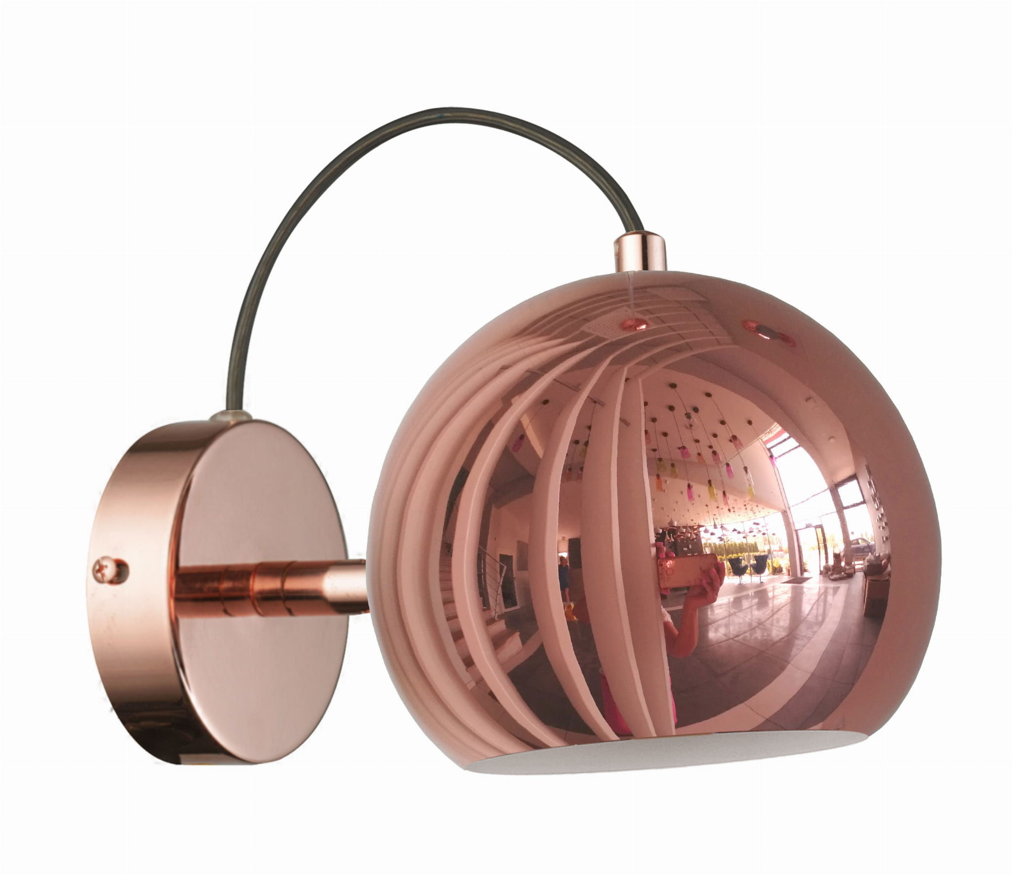 Light Prestige Rame LP-2014/1W kinkiet lampa ścienna metalowa miedziana loftowa 1x40W E14 14cm