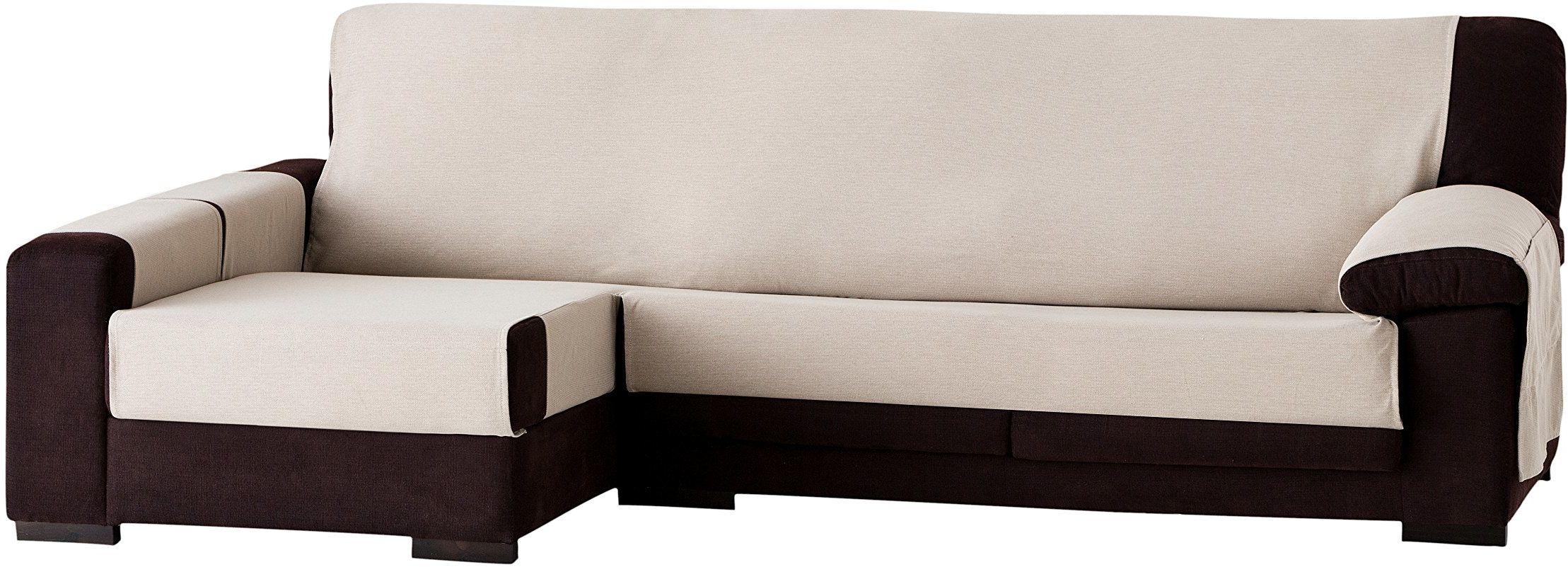 Eysa Constanza nieelastyczna narzuta na sofę o długości 240 cm po lewej stronie, widok z przodu, bawełna, 01-len, 37 x 9 x 29 cm