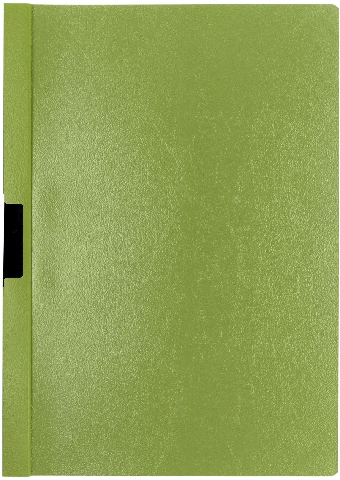 Skoroszyt zaciskowy A4/30k zielony Duraclip
