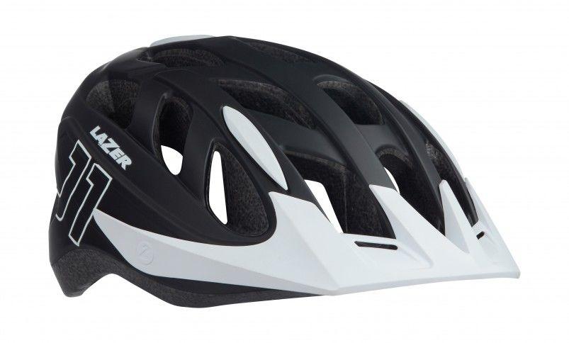 LAZER kask rowerowy dziecięcy/juniorski j1 matte black white czarny-biały BLC2197885182 Rozmiar: 52-56,lazer-j1-5