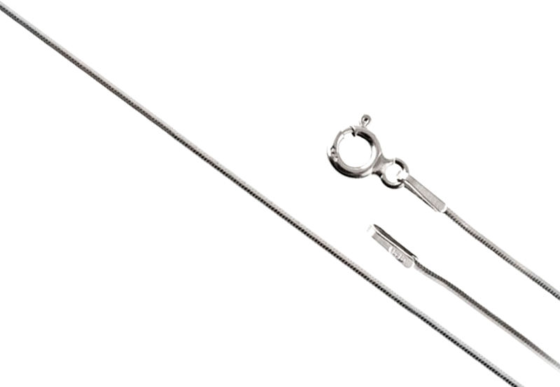 SREBRNY 925 ŁAŃCUSZEK LINKA 45cm