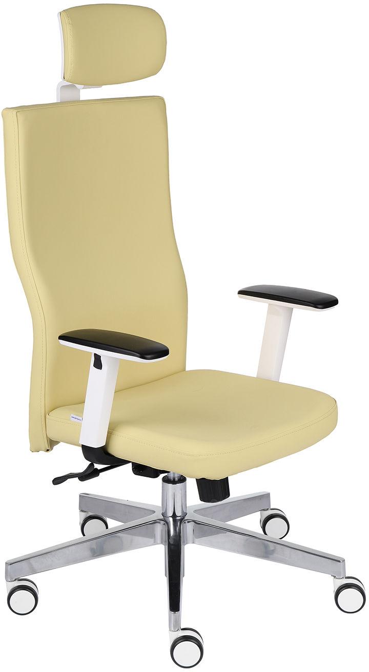 Krzesło Team Plus HD W Chrome, ergonomiczny fotel biurowy