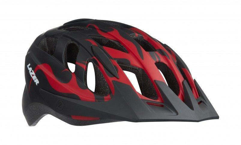 LAZER kask rowerowy dziecięcy/juniorski j1 red flames czarny-czerwony BLC2197885186 Rozmiar: 52-56,lazer-j1-2