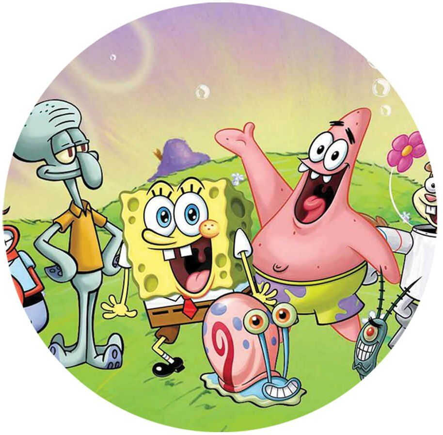 Dekoracyjny opłatek tortowy Spongebob - 20 cm