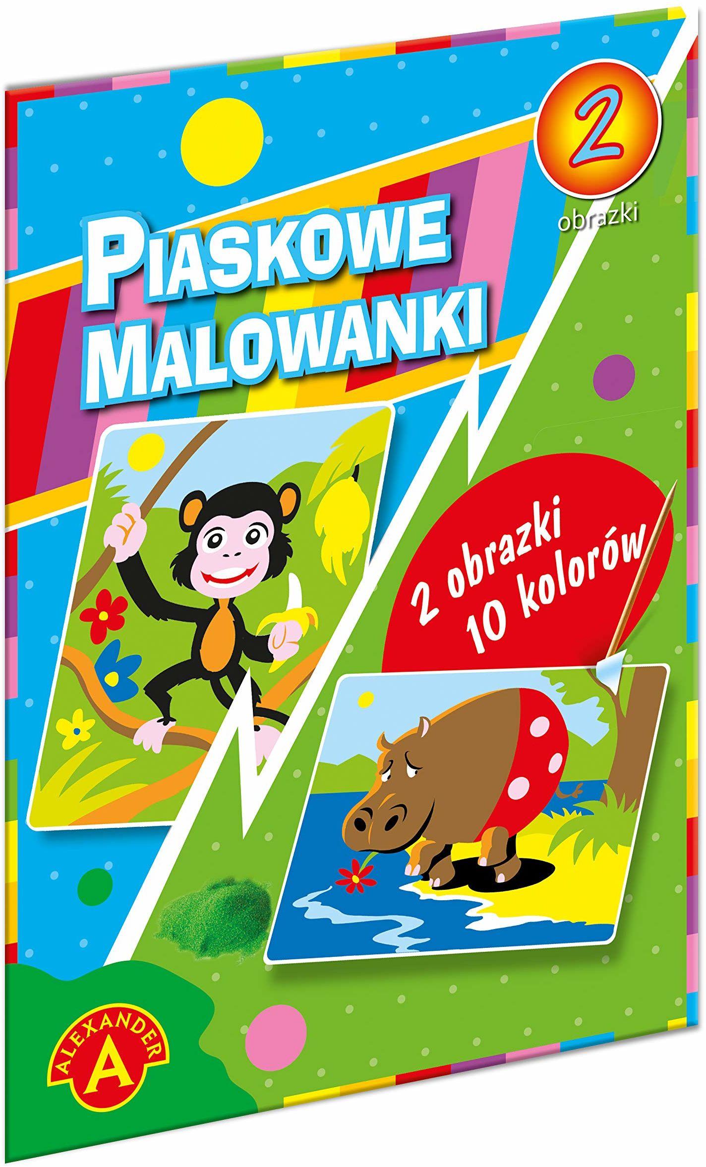 Z.P. Alexander 1398 Piaskowa Malowanka-Hipopotam,Małpa
