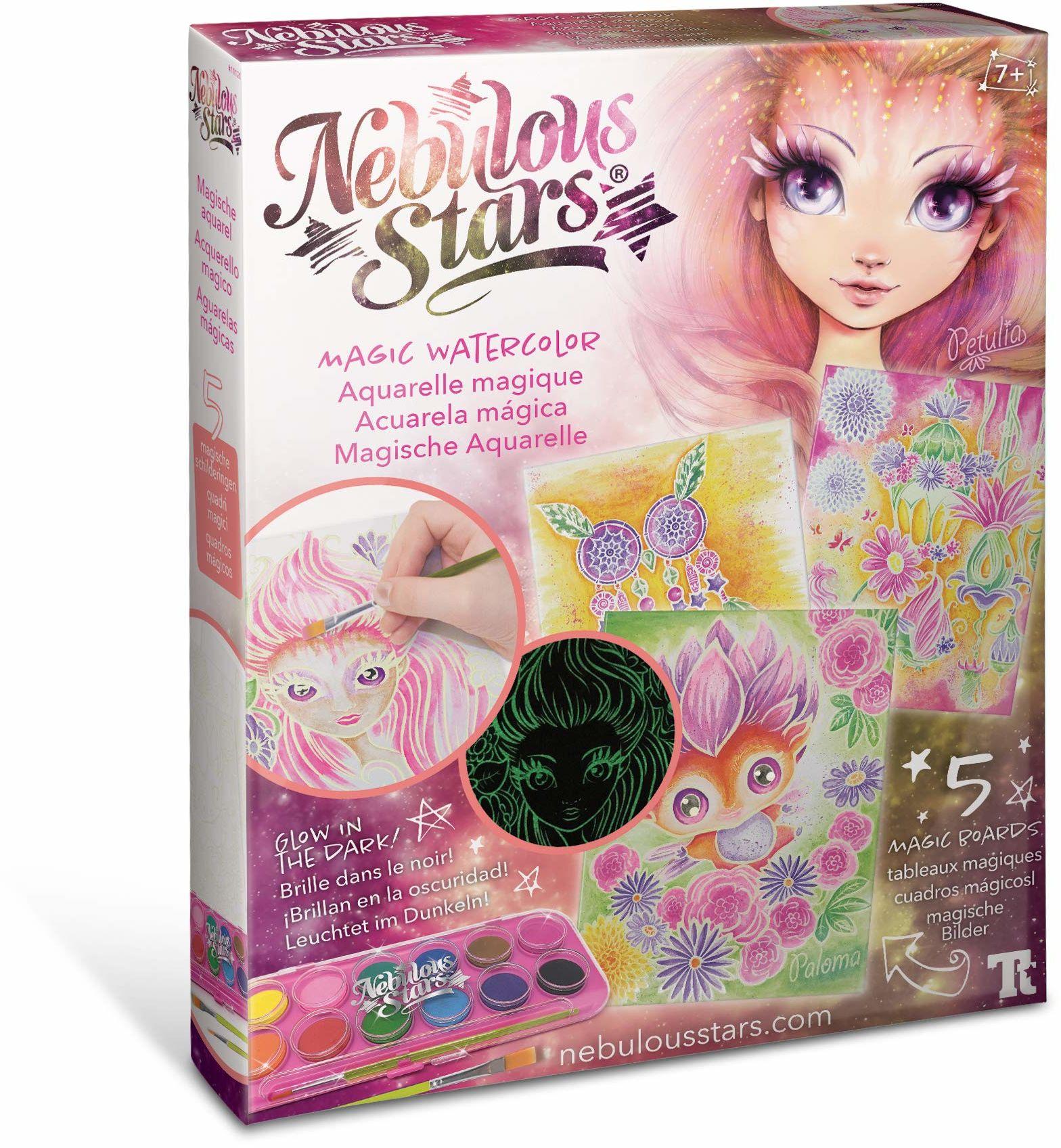 Nebulous Stars 11120 magiczne pudełko akwarelowe, wielokolorowe, 19-częściowy zestaw