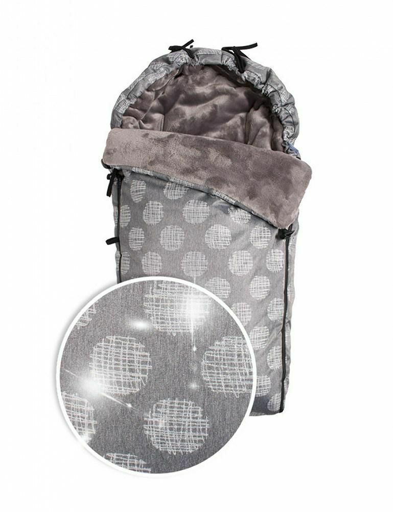 Śpiworek do wózka Cocoon stalowy srebrny TDS100C-04