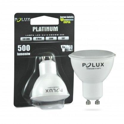 Żarówka LED 7,5W gwint GU10 700lm ciepła/żółta barwa światła PLATINIUM POLUX/SANICO- wysyłka 24h (na stanie 12 sztuk)