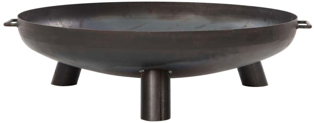 Czarne okrągłe palenisko ogrodowe - Indir