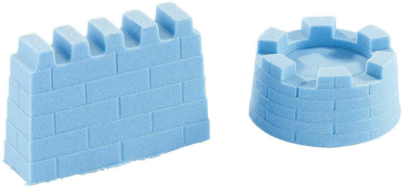 Playtastic Piasek kinetyczny, z możliwością formowania i stabilny, drobny, niebieski, 500 g