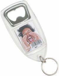 Breloczek do kluczy ze zdjęciem Fun & Deco z otwieraczem do butelek