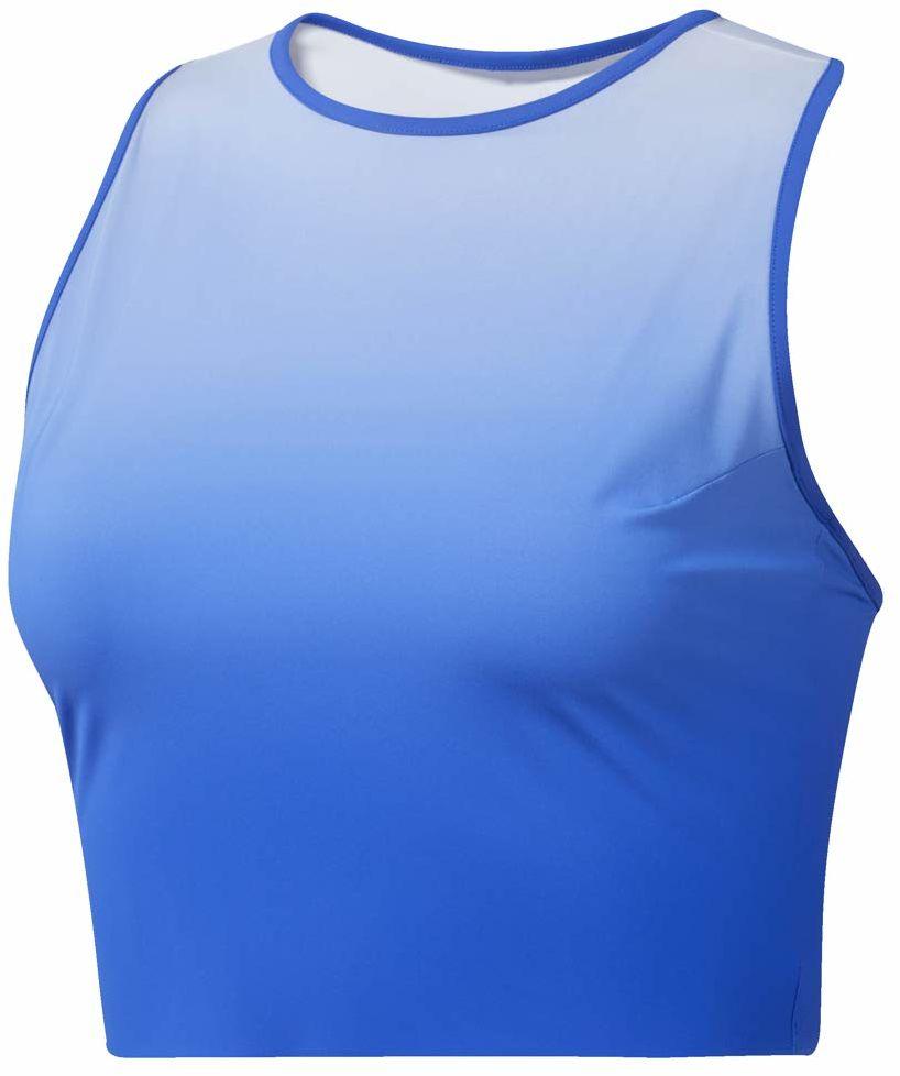 Reebok damska koszulka do jogi Ombre Crop Tank-top damska - niebieska, jasnoniebieska niebieski niebieski M