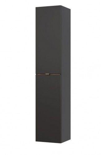 Słupek boczny 35x33x170cm cosmos grafit mat/dąb