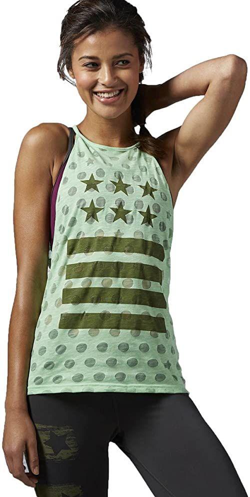 Reebok damska koszulka bez rękawów Yoga Star Tank, Seafoam Green, XL
