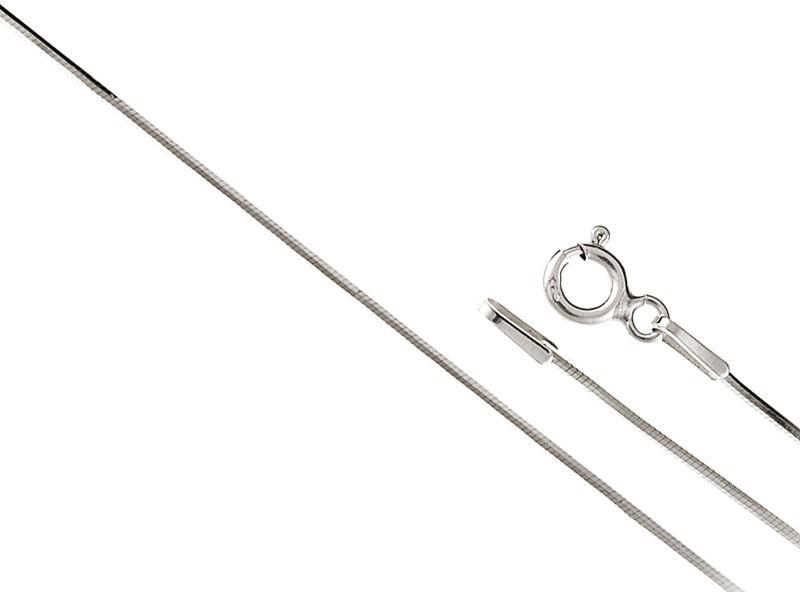 SREBRNY 925 ŁAŃCUSZEK LINKA 55cm