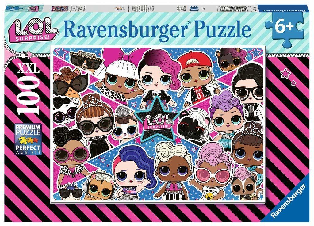 Ravensburger Puzzle 12882 Lol Surprise 100 Elementów Puzzle Dla Dzieci (12882) Unikalne Elementy, Technologia Softclick - Klocki Pasują Idealnie