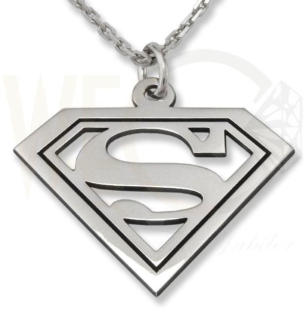 Zestaw ze srebra wisiorek superman-1 z łańcuszkiem ankra.