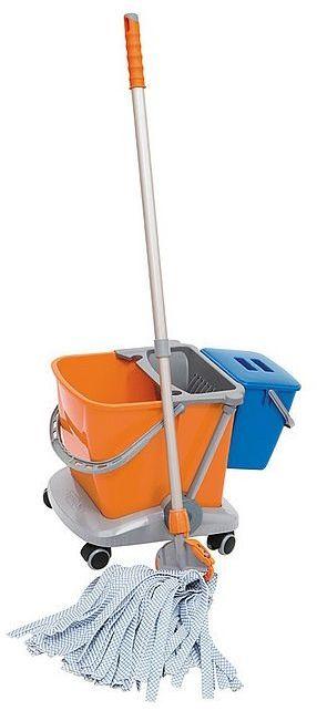 Wózek dwuwiadrowy do sprzątania z wyciskarką i mopem MIKRO I PLUS Splast