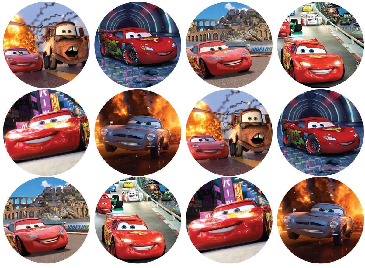 Opłatki na muffiny babeczki Cars Zygzak McQueen