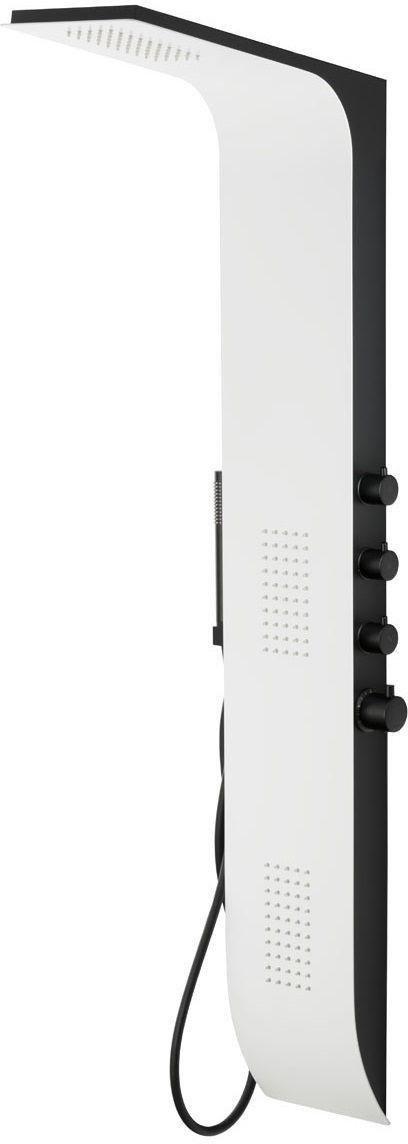 Corsan Duo Panel natryskowy z termostatem biało-czarny A-777TDUO