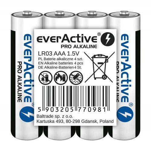 4x Baterie alkaliczne AAA / LR03 everActive Pro folia