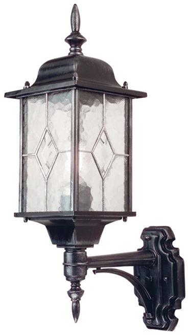 Kinkiet zewnętrzny Wexford WX1 Elstead Lighting czarno-srebrna oprawa w klasycznym stylu