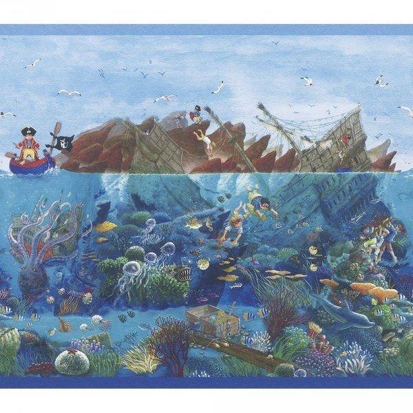 Szeroki pasek dekoracyjny piraci border 290004 villa coppenrath ii