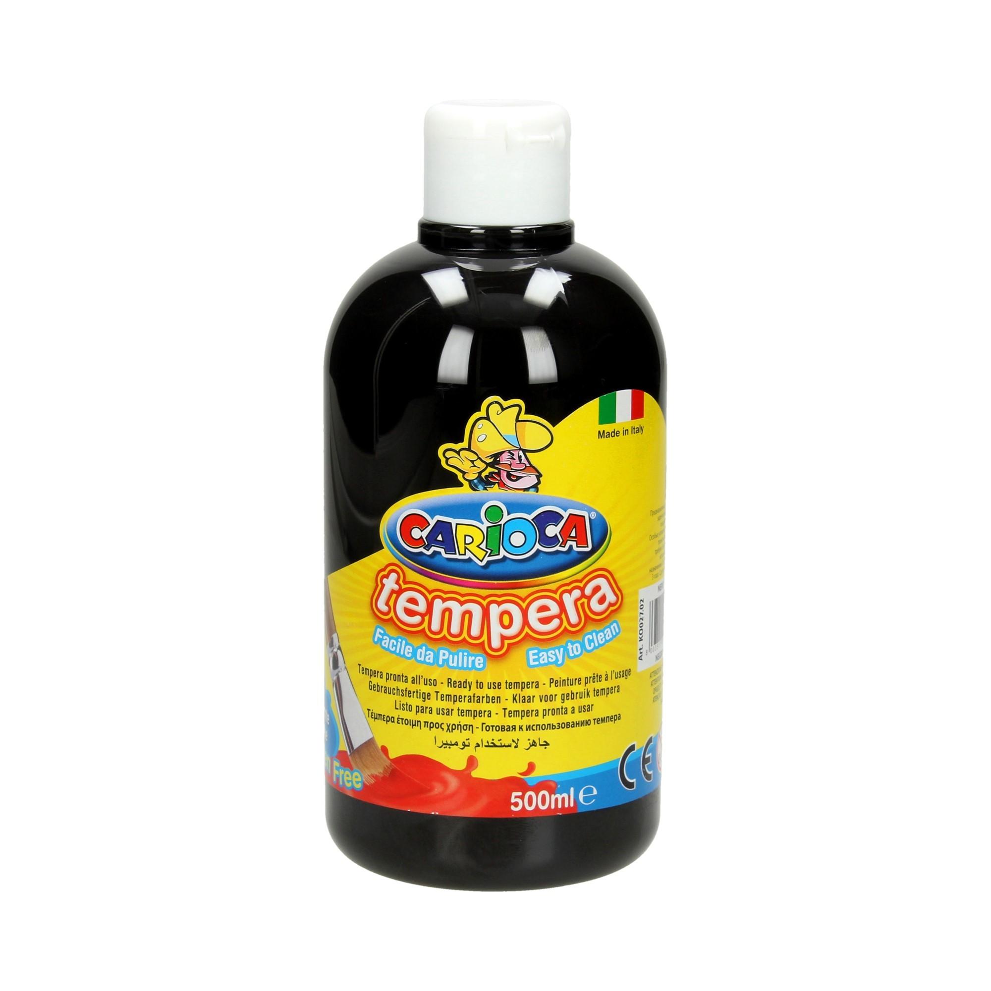Farba tempera czarna 500ml Carioca
