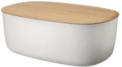 RIG-TIG by Stelton BOX-IT Chlebak - Pojemnik na Chleb z Deską Bambusową - Biały