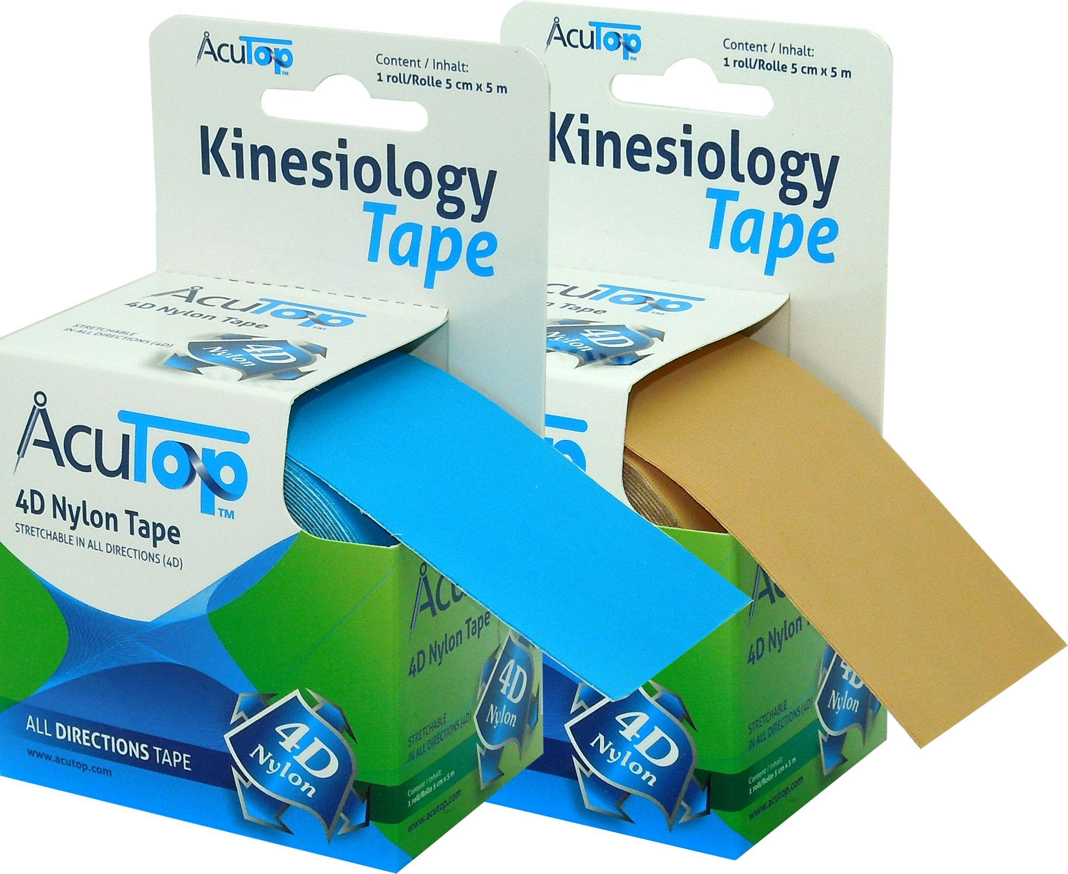 Innowacyjny 4D Kinesiology Dynamic tape - Mocna stabilizacja w 4 płaszczyznach (AcuTop Nylon)