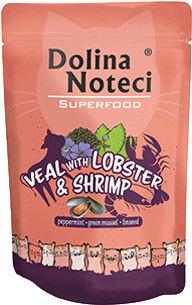 DOLINA NOTECI Superfood cielęcina z homarem i krewetkami saszetka 85g