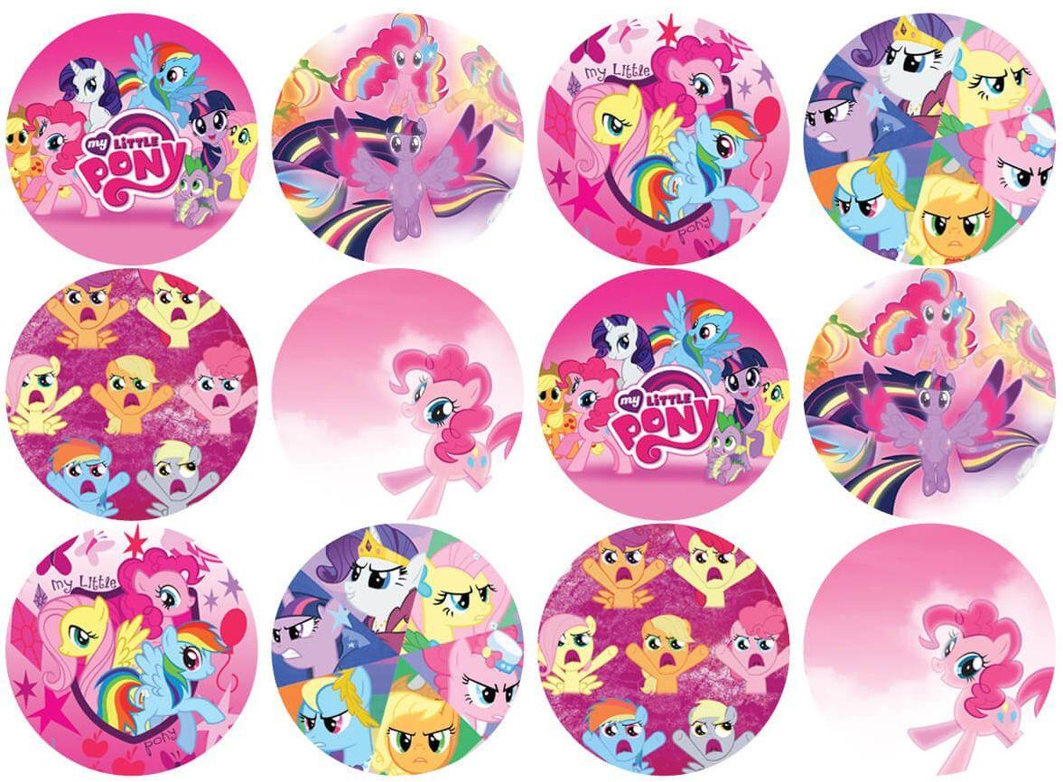 Opłatki na muffiny babeczki My Little Pony