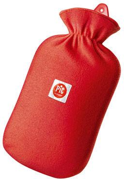 PIC Hot Water Bag Termofor z pokrowcem Termofor z polarowym pokrowcem