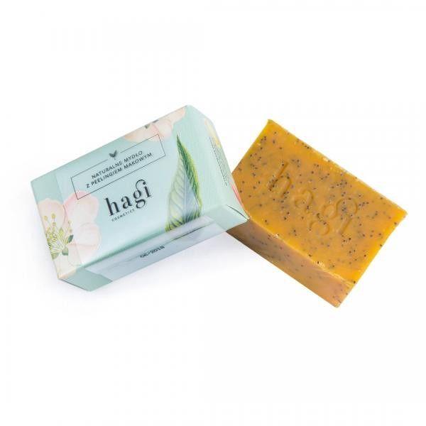 Hagi Naturalne Mydło z Olejem z Rokitnika i Peelingiem Makowym Mydło do skóry suchej 100 g