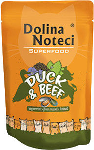 DOLINA NOTECI Superfood kaczka i wołowina saszetka 85g