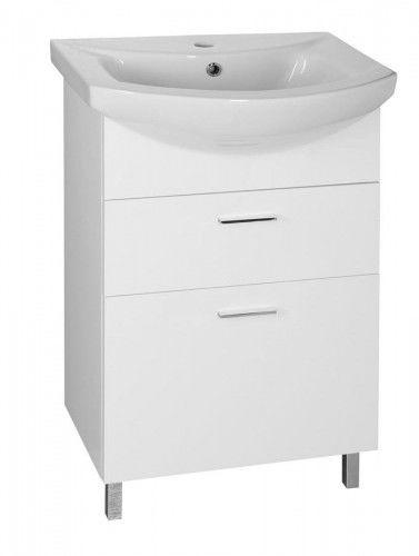 szafka łazienkowa Zoja biała 50,5x74x30