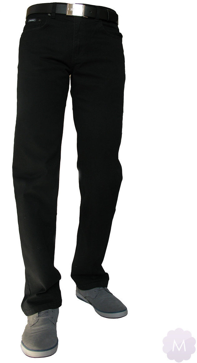 Elastyczne męskie czarne spodnie jeansowe (QD-1) - 32