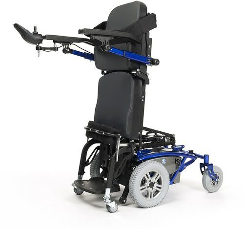 Wózek inwalidzki elektryczny Timix Su Vermeiren - z napędem na przednie koła, z funkcją pionizacji